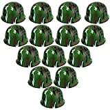 Aoibrloy 14 Pieces Army Helmet Kids Soldier Costume for Boys Party Camo Novelty Hat Dress up Toy