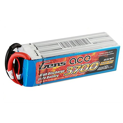 Gens ace B-60C-3700-6S1P Pieza para maquetas radio control (RC) - Piezas para maquetas radio control (RC) (Batería, Multicolor, Polímero de litio, 3700 mAh, 22,2 V, 606 g) , color/modelo surtido