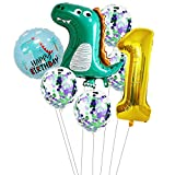 Haosell Globos de dinosaurio para cumpleaños de 1...