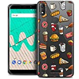Ultra-Slim Case for Wiko View Max, 6 Inches, Foodie Fast