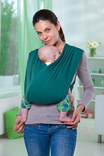 AMAZONAS Babytrage CarryBaby Petrol Bauchtrage 2 Schlaufen stressfrei ohne Knoten 4 Monate – 3 Jahre bis 15 kg - 4