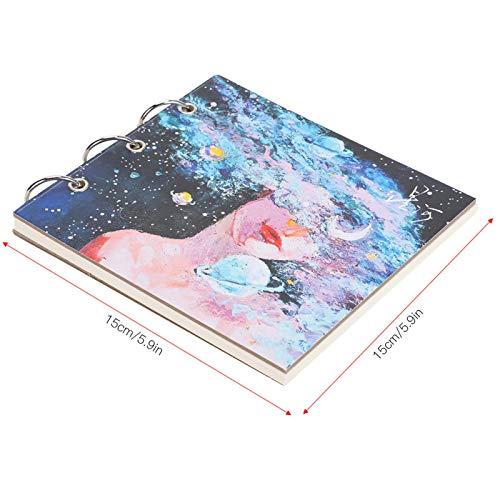 Libro de pintura de cartón blanco Papel de dibujo Bloc de notas Dibujo de pintura(White cardboard)