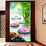 DIY Diamond Painting Kits Talla Grande,Flor sol cisne Pintura de Diamante 5D Completo Set Crystal Rhinestone bordado de punto de cruz artes manualidades for Home Wall Decor Gifts Square Drill-24x48in