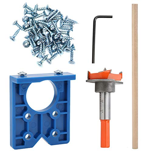 Hinge Punching Locator 35mm Hinge Jig Kit ABS Plastic Hinge Drilling Jig Hinge Hole Opener Lightweight for Positioning