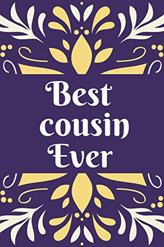 Best cousin ever: Cute Purple Marble & Gold Notebook or Journal Joke  Gift for cousin / Ideal Christmas or Birthday Gift