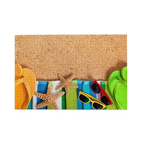 CZMCQM Starfish Flip Flops Gafas Imprimir 1000 Piezas De Rompecabezas Educativos Adultos Niños Juegos Padre-Hijo Juegos Juguetes