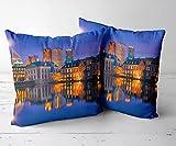 SFBBBO Kissen Kissenhülle Dekorativ Couchkissen für Sofa Couch Schlafzimmer Wohnzimmer Versteckter Reißverschluss-Den HAAG 10