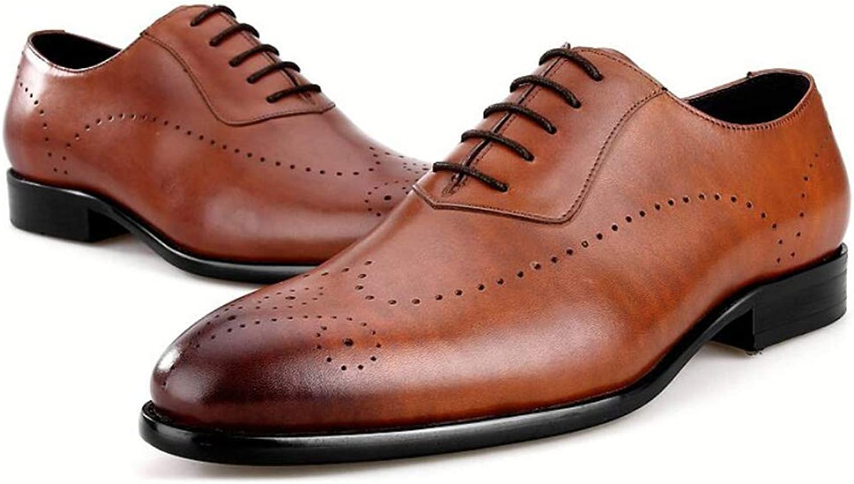 GLJQMY Mans Casual skor bilved läder Business Business Business Dress skor British Point Dress skor 38 -44 Yards Mans läderstövlar (färg  bspringaaa, Storlek  39 EU)  bästa mode