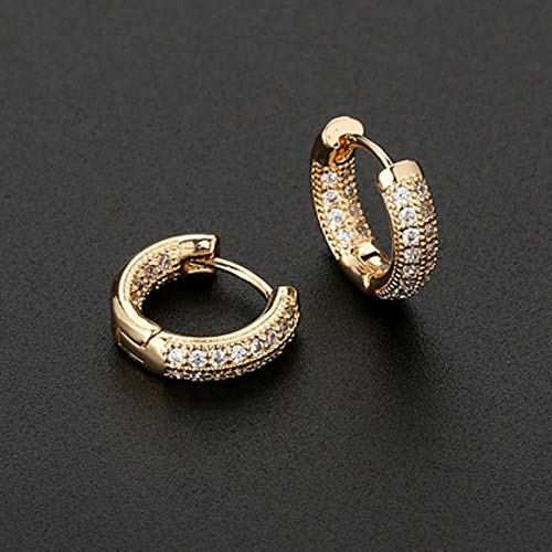 Bwer Small Hoop Cartilage 10mm Earring Micro-set Zircon Geometric Earrings Piercing Jewelry Charming For Lady Girls