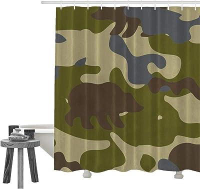 Amazon.com: Juego de cortinas de ducha Wild Leopard cortinas ...