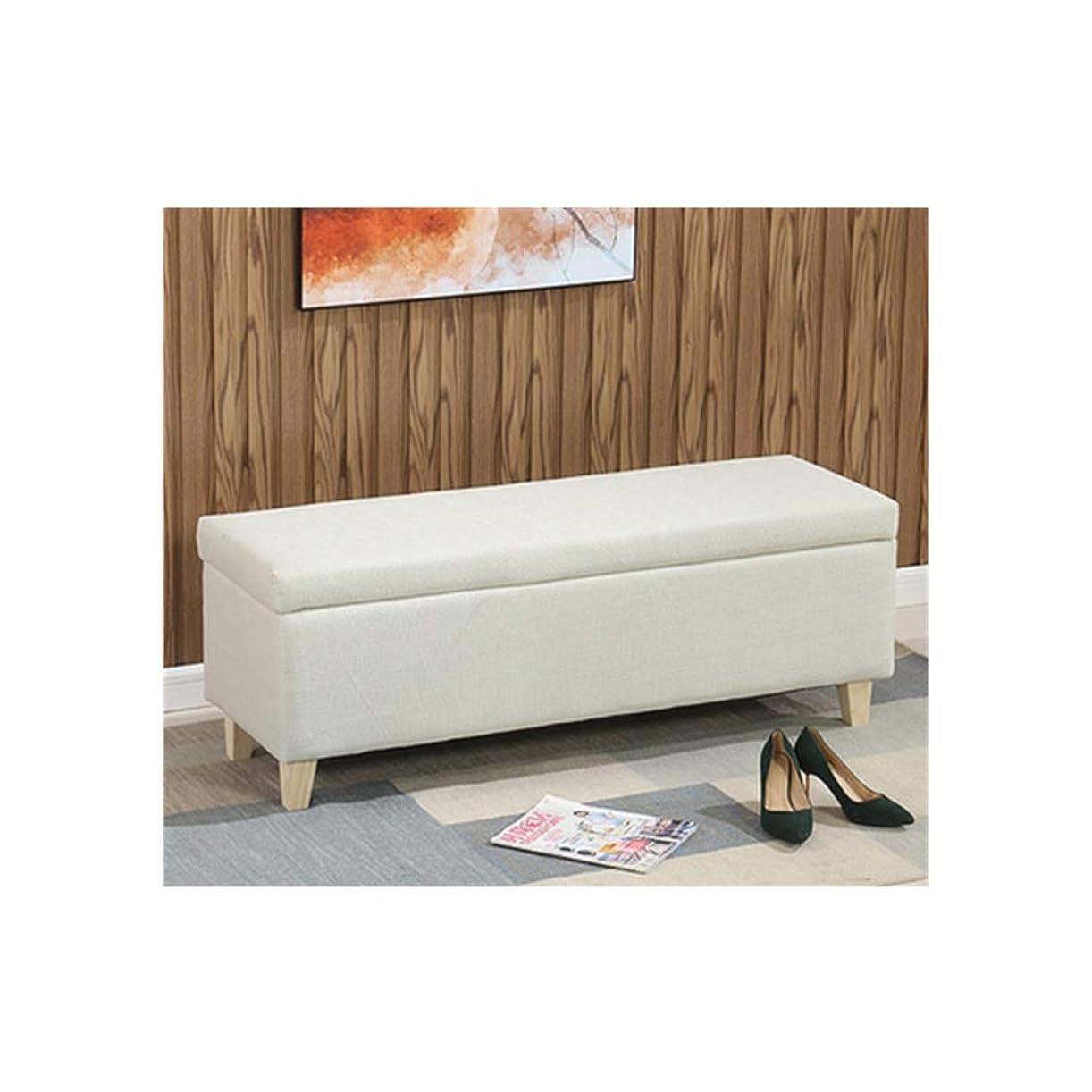 さわやかカートリッジ配送収納ベンチ ストレージスツールのためにリビングルームのベッドルーム廊下簡単にきれいにし、耐摩耗性 (Color : White, Size : 100x45x43cm)
