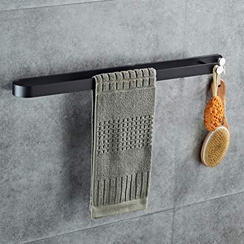 Auoeer La Creatividad montado en la Pared de Toallas, Titular de la Moderna Simple Toalla desechable Bar, Aluminio del Espacio toallero, Cocina paños de Cocina Percha.Negro (Talla : 65cm)
