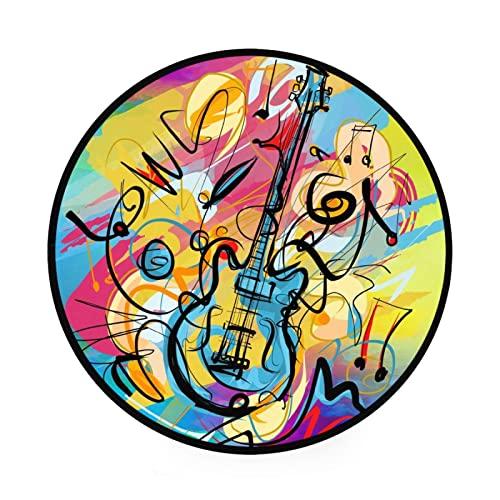 Alfombra redonda para guitarra eléctrica de 3 pies, suave,...