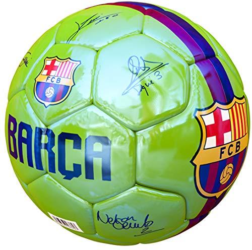 Pallone Barcelona Misura 5 autografi autografato Stagione 2018 2019 Barcellona Verde