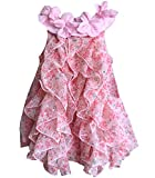 Toddler Girl Summer Cute Romper Dress Baby Casual Soft Clothing Size 18M (Floral,18M)