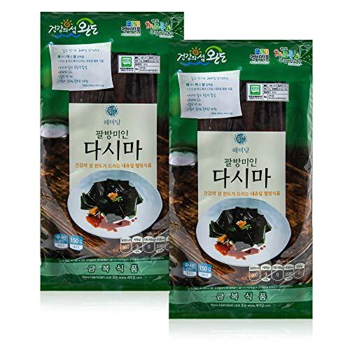 Organic Dried Kelp from Wando 완도 [ Korean Food ] Low Calorie Dasima, Perfect for Healthy Soup Stocks and Side Dishes [ JRND Foods ] Two 150g Bags