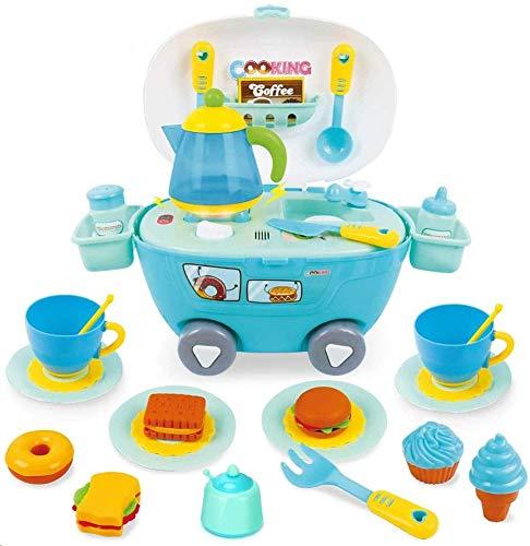 BeebeeRun 33PCS Accesorios de Cocina Alimentos Juguetes para niños,Educativos Cocina Maletin Juguete Regalos para niños niñas
