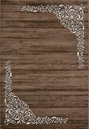 Siela Teppich Wohnzimmer Braun,Kurzflor Teppich, Teppiche Für Schlafzimmer, Küche Läufer Flur, Modern Deko Esszimmer, Hochwertig (80 x 300 cm)