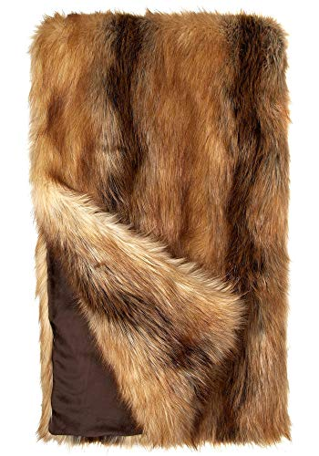 Donna Salyers' Fabulous-Furs Limited Edition Red Fox Faux Fur Throws (60x72 in) (Red Fox)