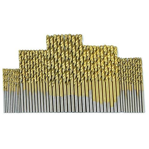 50Pcs 1/1.5/2.0/2.5/3mm Titanium Coated Twist Drill Bit High Steel for Woodworking Plastic And Aluminum HSS Drill Bit Set useful