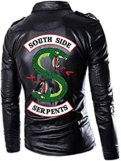 Southside Serpents Riverdale Mens Black Slimfit Synthtic Leather Jacket