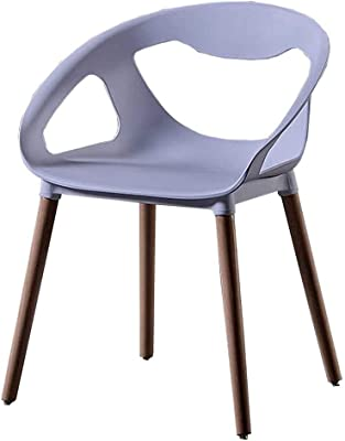 Wooden Foot Plastic Chair Western Restaurant Dining Chair Plastic Hollow Chair Wooden Foot Dining Chair Cafe Lounge Chair,White