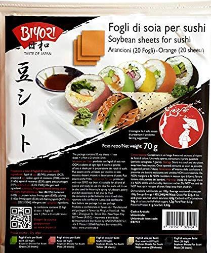 Fogli Gialli di Soia per Sushi 70g BIYORI