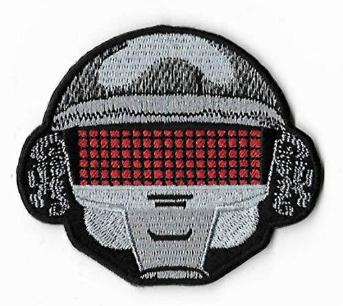 Daft Punk-Aufnäher, 7,6 cm, komplett bestickt, zum Aufnähen/Aufbügeln, Souvenir,...