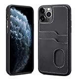 SUTENI iPhone 11 Pro Wallet Case, iPhone 11 Pro Wallet Slim Case with Credit Card Holder, PU Leather Shockproof Wallet Case Compatible with iPhone 11 Pro (2019) 5.8 inch (Black)