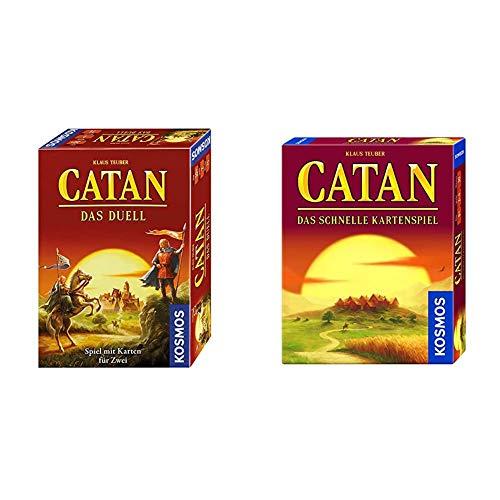 KOSMOS 693732 - CATAN - Das Duell, Strategiespiel, Spiel mit Karten für 2 Spieler & 740221 CATAN - Das schnelle Kartenspiel, Taktik und Schnelligkeit, ab 8 Jahren
