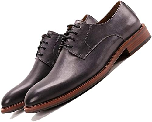 Inglaterra Retro Hecho A Mano Los hombres zapatos De Negocios Derby Transpirable Caballero Trabajo Deber zapatos marrón negro