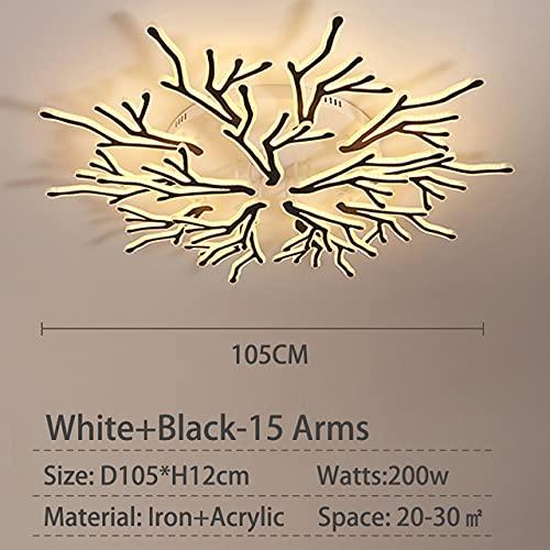 YHshop Ceiling Light Luminaires Modern Led Chandelier For Living room Bedroom Dining room Acrylic Ceiling Chandelier Lighting Fixtures White black Modern Ceiling Light