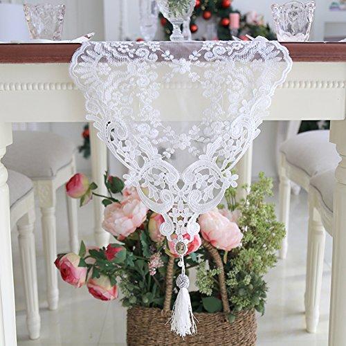 Tischläufer spitze verschönert & bestickt romantische tisch-fahnen garne aus hohlen netto tischläufer bestickt teetisch tischdecke-A 30x250cm(12x98inch)