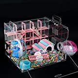 Nynelly Cage pour Hamsters,Souris Mini Duna Hamster Cage,Cage...