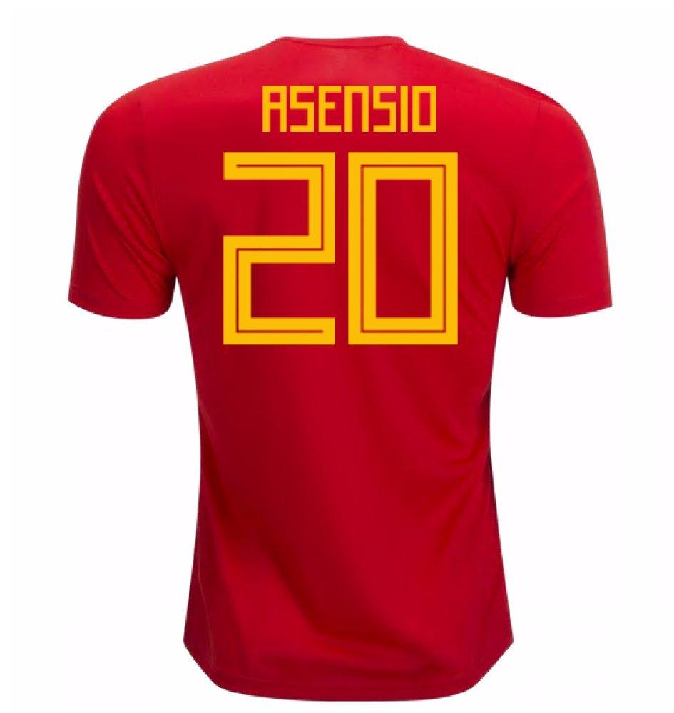 2018-19 Spain Home Football Soccer T-Shirt Camiseta (Marco Asensio 20) - Kids: Amazon.es: Deportes y aire libre