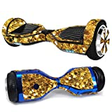 MightySkins Skin Compatible with Hover-1 H1 Hoverboard Scooter - Gold Chips | Protective, Durable, and Unique Vinyl Decal wrap Cover | Easy to Apply, Remove, and Change Styles | Made in The USA