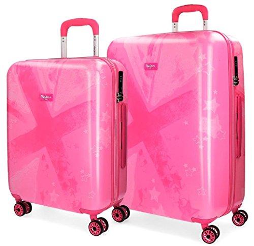 Pepe Jeans Clea Juego de maletas, 119 litros, 69 cm, Rosa