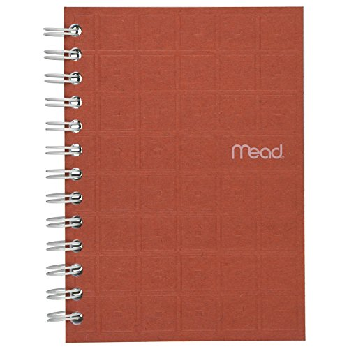 Mead Spiral Notebook, College Ruled Paper, 80 Sheets, 7' x 5', Recycled, Assorted Colors, Color Selected For You, 1 Count (45186)