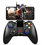 Game Controller For Mobile, PowerLead Wireless Gamepad Comptible for Android and iOS with Retractable Bracket Support 6-inch Mobile Phones- Direct Play