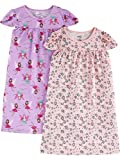 Simple Joys by Carter's Girls' Little Kid 2-Pack Nightgowns, Fairy/Animal Print, 4-5