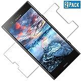 TOCYORIC [2 Unidades Cristal Templado para Sony Xperia XZ1 Compact, [9H Dureza] [Alta Definicion] [Anti-Arañazos] [Sin Burbujas] Vidrio Templado, Protector de Pantalla para Xperia XZ1 Compact