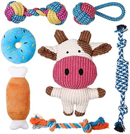 Toozey Puppy Toys for Small Dogs 7 Pack Small Dog Toys Cute Calf Squeaky Toys for Dogs Durable product image