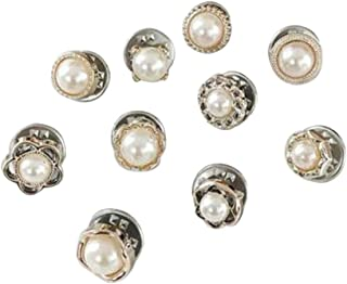 Sewing Buttons Instant Button Pins, Prevent Accidental Exposure of Buttons, Safety Buckle Button Women's Shirt Vest Safety Buckle Button, No Needlework Clothing Collocation Accessories (D)