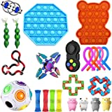 23 piezas/juego de juguetes sensoriales para aliviar el estrés y la ansiedad,apretar los juguetes sensoriales para niños y adultos,paquete de juguetes de terapia sensorial para el autismo y el TDAH