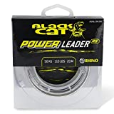 Black Cat Ø0,70mm Power Leader 20m 50kg,110lbs, Grün, 0,70 mm