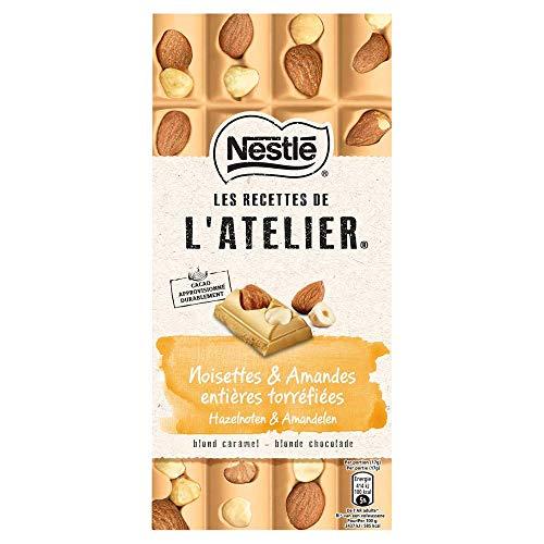Nestlé L'Atelier Blond Hazelnoot Amandel chocoladereep - doos met 10 stuks (10 x 170 gram)