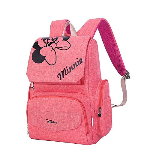 GXHGRASS Wickeltasche Rucksack, Multifunktionstasche Aufbewahrungstasche Für Mutter Und Kind, 28 × 19 × 41 cm Vordere Flasche Isolierschicht Schultergurt Hinterkante