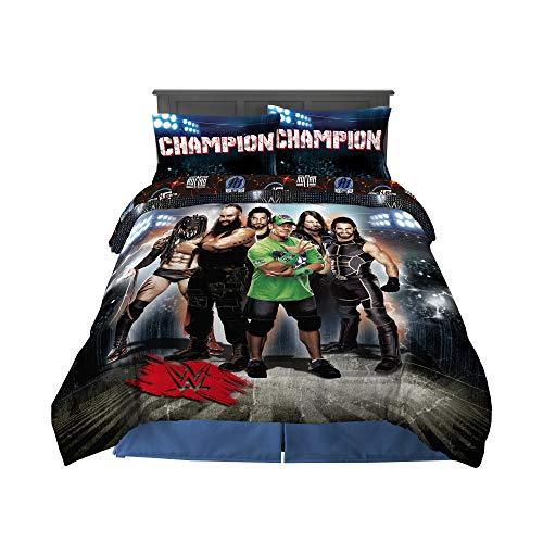 Franco Kids Bedding Super Soft Comforter and Sheet Set, 5 Piece Full Size, WWE