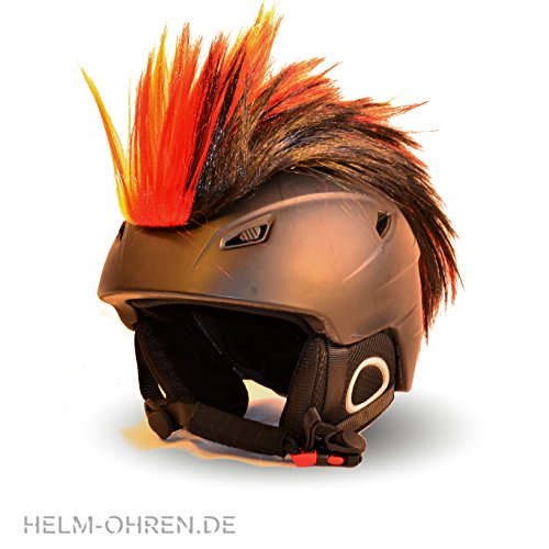 Helm-Irokese für den Skihelm, Snowboardhelm, Kinderskihelm, Kinderhelm, Motorradhelm, Fahrradhelm - Punk Fan Irokese für Kinder und Erwachsene Helmcover HELMDEKO (Deutschland)
