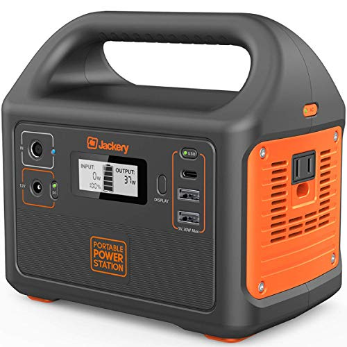 Jackery Portable Power Station Explorer 160, 167Wh Lithium Battery Backup Power Supply with 110V/100W (Peak 150W) AC Outlet for Outdoors Camping Fishing Emergency (Renewed)